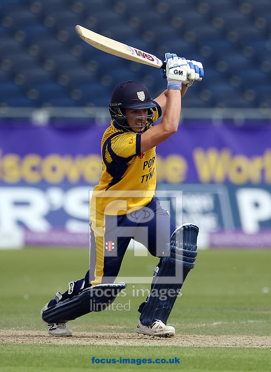 Michael Richardson of Durham CCC batting during the Royal London One Day Cup match at Emirates Riverside, Chester-le-Street<br /> Picture by Simon Moore/Focus Images Ltd 07807 671782<br /> 31/07/2016