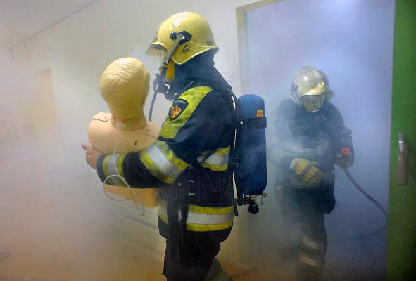 Nederland, Nijmegen, 28-4-2009Ontruimingsoefening brandalarm academisch ziekenhuis Nijmegen. Foto: Flip Franssen/Hollandse Hoogte