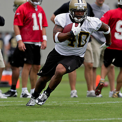 05 June 2009: Saints rookie running back Herb Donaldson (40) participates in drills during the New Orleans Saints Minicamp held at the team's practice facility in Metairie, Louisiana.