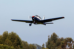 Piper PA-28-181 Cherokee (registration N3576J) takes off from Palo Alto Airport (KPAO), Palo Alto, California, United States of America