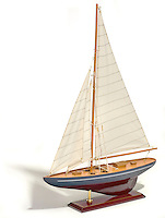 cherry wood model sailboat