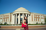 TUSCALOOSA, AL – SEPTEMBER 28, 2016: Jillian Mazon walks past Shelby Hall, the Interdisciplinary Sciences Building, on her way to her dorm room. Despite the rising cost of college tuition nationwide, in state student enrollment is becoming less profitable for major public universities. In response to these financial shortfalls, flagship universities around the country are working hard to rebrand themselves as attractive institutions for out of state students. The University of Alabama has begun an aggressive campaign to recruit out of state students, as the revenue from those students is much greater. CREDIT: Bob Miller for The New York Times