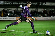 Rory Watson (on loan from Scunthorpe United) (North Ferriby United) takes a goal kick during the Vanarama National League match between North Ferriby United and Tranmere Rovers at Eon Visual Media Stadium, North Ferriby, United Kingdom on 21 March 2017. Photo by Mark P Doherty.