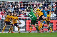 Football - 2018 / 2019 Emirates FA Cup - Fifth Round: Bristol City vs. Wolverhampton Wanderers<br /> <br /> Bristol City's Frank Fielding (GK) fires in a shot from a corner but is denied by Wolverhampton Wanderers' John Ruddy, at Ashton Gate.<br /> <br /> COLORSPORT/ASHLEY WESTERN