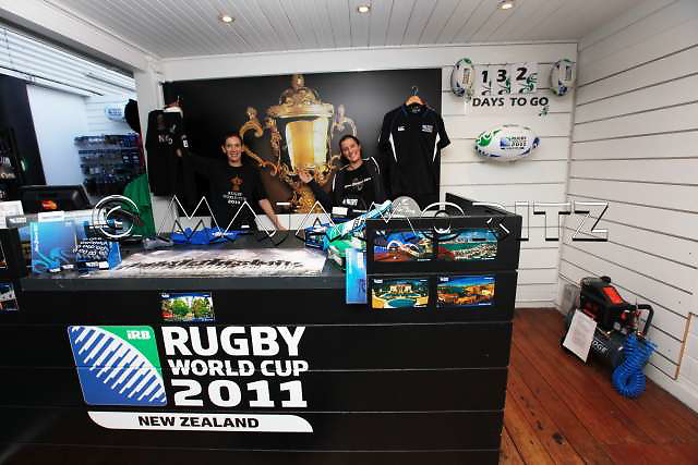 The official Rugby World Cup 2011 Superstore in Auckland, Viaduct Harbour