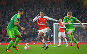 Arsenal Forward Alex Iwobi on the attack during the The FA Cup match between Arsenal and Sunderland at the Emirates Stadium, London, England on 9 January 2016. Photo by Adam Rivers.