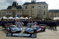 Olivier Pla (FRA) / Stefan Mucke (DUE) / Billy Johnson (USA) #66 and Marino Franchitti (GBR) / Andy Priaulx (GBR) / Harry Tincknell (GBR) #67 Ford Chip Ganassi Racing Team UK Ford GT,  during the Le Mans 24 Hr June 2016 at Circuit de la Sarthe, Le Mans, Pays de la Loire, France. June 12 2016. World Copyright Peter Taylor/PSP.