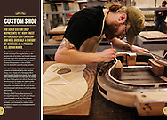 Client: Guild Guitar. Advertising and catalog photography for Guild Guitar Acoustic Custom Shop. (Photo by Robert Falcetti)