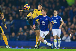 LIVERPOOL, ENGLAND - Tuesday, December 13, 2016: Everton's James McCarthy in action against Arsenal's Francis Coquelin during the FA Premier League match at Goodison Park. (Pic by David Rawcliffe/Propaganda)