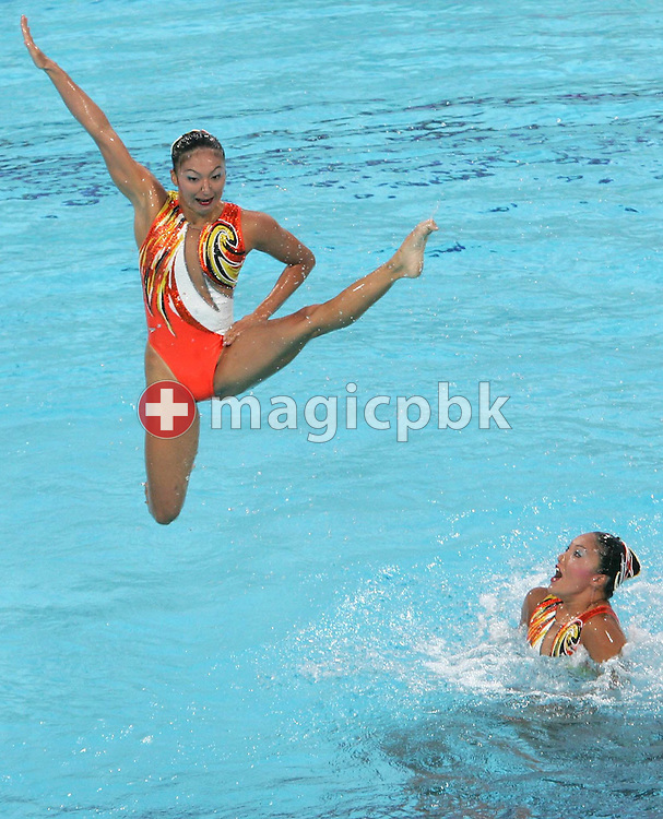 The Japanese team performs during the Synchronized Swimming free routine final of the Athens 2004 Olympic Games Friday 27 August 2004.  (Photo by Patrick B. Kraemer / MAGICPBK)