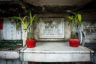 Philippines, Manila. Baby grave at the Chinese Cemetery.