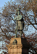 Black Watch Boer War Memorial, by William Birnie Rhind, 1853-1933, in augurated 1910, dedicated to the soldiers who fell during the Boer War 1899-1902, on Market St and North Bank St, Edinburgh, Scotland. Picture by Manuel Cohen