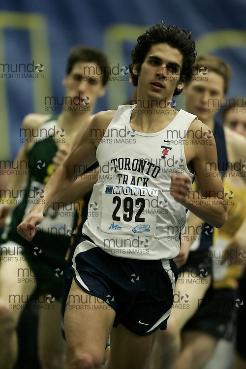 (Windsor, Ontario---12 March 2010) Michael Del Monte of University of Toronto   competes in the 1000m final at the 2010 Canadian Interuniversity Sport Track and Field Championships at the St. Denis Center. Photograph copyright Geoff Robins/Mundo Sport Images. www.mundosportimages.com