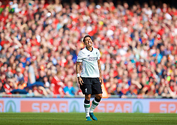 DUBLIN, REPUBLIC OF IRELAND - Saturday, August 5, 2017: Liverpool's Roberto Firmino reacts after an injury during a preseason friendly match between Athletic Club Bilbao and Liverpool at the Aviva Stadium. (Pic by David Rawcliffe/Propaganda)