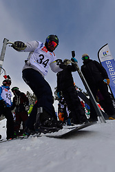 Europa Cup Finals Banked Slalom, PEREIRA Andre, BRA at the 2016 IPC Snowboard Europa Cup Finals and World Cup