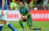 "Delusione Gianluigi Buffon Italia<br /> dejection<br /> Kiev 01/07/2012  ""Stadio Olimpico""<br /> Football calcio Europeo 2012 Spagna Vs Italia<br /> Football Calcio Euro 2012<br /> Foto Insidefoto Alessandro Sabattini"