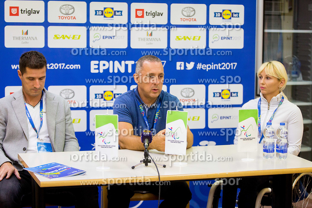 PRESS CONFERENCE during day 1 of 15th EPINT tournament - European Table Tennis Championships for the Disabled 2017, at Arena Tri Lilije, Lasko, Slovenia, on September 28, 2017. Photo by Ziga Zupan / Sportida