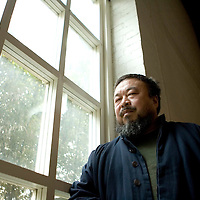 China's  Artist Ai Wei Wei  during an interview in Beijing, China, on Monday January. 14, 2007. Photographer: Bernardo De Niz