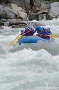 Whitewater rafting on the Skykomish River, Washington