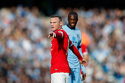 Wayne Rooney of Manchester United points - Photo mandatory by-line: Rogan Thomson/JMP - 07966 386802 - 02/11/2014 - SPORT - FOOTBALL - Manchester, England - Etihad Stadium - Manchester City v Manchester United - Barclays Premier League.