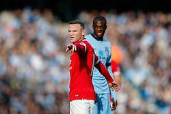 Wayne Rooney of Manchester United points - Photo mandatory by-line: Rogan Thomson/JMP - 07966 386802 - 02/11/2014 - SPORT - FOOTBALL - Manchester, England - Etihad Stadium - Manchester City v Manchester United - Barclays Premier League.