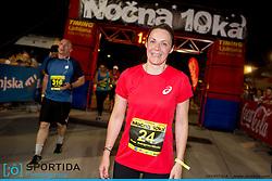Maria Anargyrou Nikolic at 10th Nocna 10ka 2016, traditional run around Bled's lake, on July 09, 2016 in Bled,  Slovenia. Photo by Urban Urbanc / Sportida