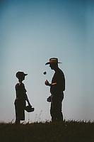 Baseball Player and son