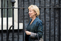 © Licensed to London News Pictures. 17/10/2017. London, UK. Leader of the House of Commons Andrea Leadsom arriving in Downing Street to attend a Cabinet meeting this morning. Photo credit : Tom Nicholson/LNP
