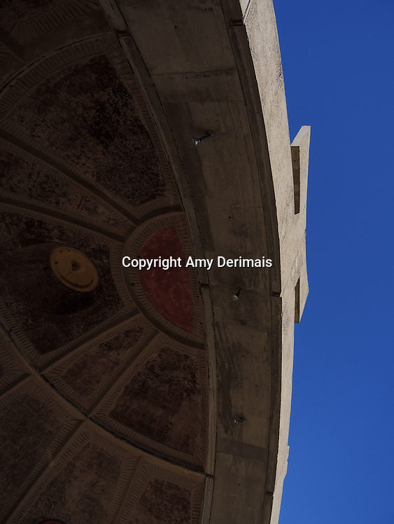 High Desert Test Sites 2013. Roof of the bell workshop in Arcosanti, AZ.