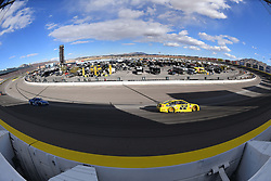 March 4, 2018 - Las Vegas, NV, U.S. - LAS VEGAS, NV - MARCH 04: Joey Logano (22) Team Penske Pennzoil Ford Fusion drives into turn 2 during the Monster Energy NASCAR Cup Series Pennzoil 400 on March 04, 2018 at Las Vegas Motor Speedway in Las Vegas, NV. (Photo by Chris Williams/Icon Sportswire) (Credit Image: © Chris Williams/Icon SMI via ZUMA Press)