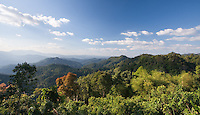 View of tropical rainforest and hills in Kaeng Krachan National Park, Thailand