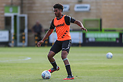 Forest Green Rovers Reuben Reid(26) warming up during the Pre-Season Friendly match between Forest Green Rovers and Leeds United at the New Lawn, Forest Green, United Kingdom on 17 July 2018. Picture by Shane Healey.