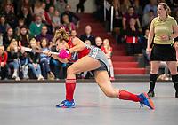 HAMBURG  (Ger) - Match 19,  for bronze , Der Club an der Alster (Ger) - Club Campo de Madrid (Esp)  Photo:  Anne Schröder (Alster)   Eurohockey Indoor  Club Cup 2019 Women . WORLDSPORTPICS COPYRIGHT  KOEN SUYK