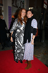 Left to right, ANGELA DUNN and FIONA KNAPP at a party to launch Pearl Lowe's fashion held at The Cross. 141 Portland Road, Holland Park, W11 on 30th October 2006.<br /><br />NON EXCLUSIVE - WORLD RIGHTS