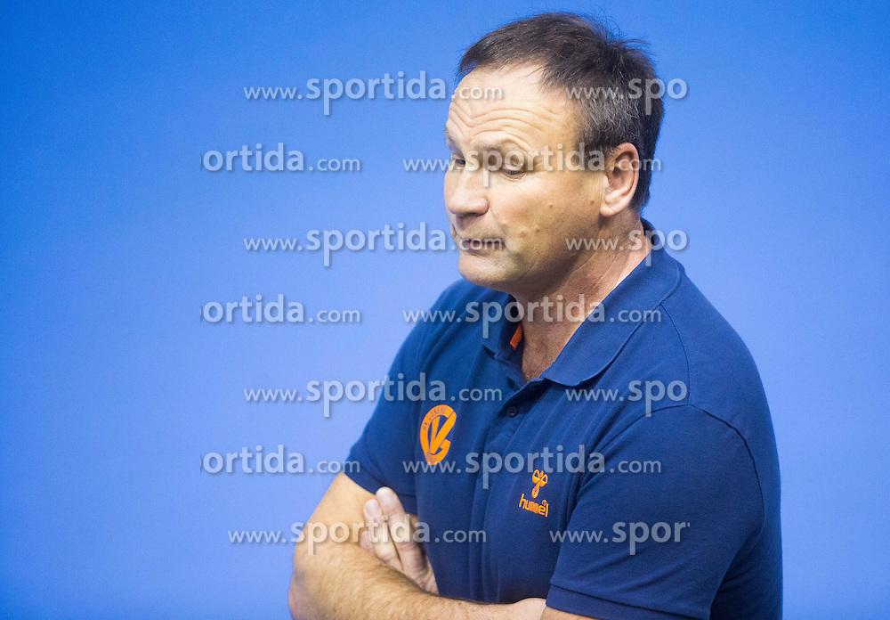 Ivan Vajdl, head coach of Gorenje during handball match between RK Gorenje Velenje and Naturhouse La Rioja in Round 6 of Group D of EHF Men's Champions League 2013/14, on November 23, 2013 in Rdeca dvorana, Velenje, Slovenia. Photo by Vid Ponikvar / Sportida