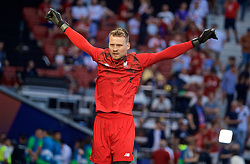 MADRID, SPAIN - SATURDAY, JUNE 1, 2019: Liverpool's substitute goalkeeper Simon Mignolet during the pre-match warm-up before the UEFA Champions League Final match between Tottenham Hotspur FC and Liverpool FC at the Estadio Metropolitano. (Pic by David Rawcliffe/Propaganda)