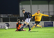 Craig Wighton scores in the final minute to seal Dundee's wee derby win - Dundee v Dundee United, SPFL Development League at Gayfield, Arbroath<br /> <br />  - &copy; David Young - www.davidyoungphoto.co.uk - email: davidyoungphoto@gmail.com