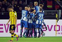 Fotball<br /> Tyskland<br /> Foto: Witters/Digitalsport<br /> NORWAY ONLY<br /> <br /> 0:1 Jubel v.l. John Anthony Brooks, Niklas Stark, Marvin Plattenhardt, Valentin Stocker, Per Ciljan Skjelbred, Mitchell Weiser (Berlin)<br /> Dortmund, 14.10.2016, Fussball Bundesliga, Borussia Dortmund - Hertha BSC Berlin