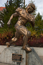 December 4, 2010; Corvallis, OR, USA;  General view of the Ironman statue inside Reser Stadium before the game between the Oregon State Beavers and the Oregon Ducks.