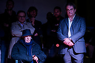 Roma, Italia - Roberto Fiore (destra), segretario del partito di estrema destra di Forza Nuova.<br /> <br /> Rome, Italy - Italy's far right  leader of Forza Nuova party Roberto Fiore (right) during arally in Rome on November 4, 2017.<br /> <br /> Ph. Roberto Salomone