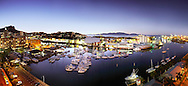 Panoramic landscape of Townsville city and waterfront, Queensland, Australia.