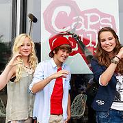 NLD/Hilversum/20130822 - Cast nieuwe TROS-jeugdserie CAPS CLUB, Daan de Groot, Eefje Paddenburg, Leonie Elbert,
