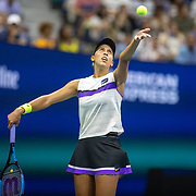 2019 US Open Tennis Tournament- Day Five.  Madison Keys of the United States in action against Sofia Kenin of the United States in the Women's Singles Round three match on Arthur Ashe Stadium during the 2019 US Open Tennis Tournament at the USTA Billie Jean King National Tennis Center on August 30th, 2019 in Flushing, Queens, New York City.  (Photo by Tim Clayton/Corbis via Getty Images)