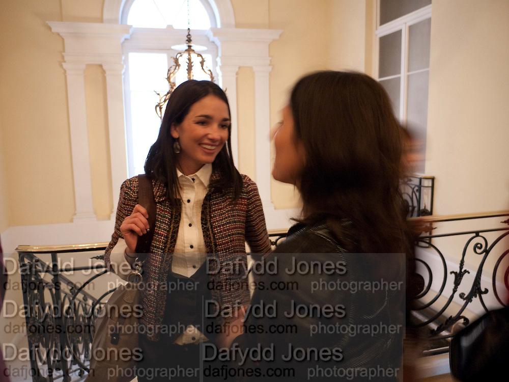 ROCIO LANUSSE; ANDREA HARARI, The launch of PINTA 2010. The Argentine AmbassadorÕs Residence, 49 Belgrave Square, London SW1. 20 April 2010.<br /> ROCIO LANUSSE; ANDREA HARARI, The launch of PINTA 2010. The Argentine Ambassador's Residence, 49 Belgrave Square, London SW1. 20 April 2010.