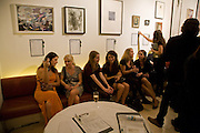 WIEBKE DREYER; KATARINA FORSS; SOPHIE TREVELYAN THOMAS; TESSA CLARFELT; SOPHIE PAGE; TESSA TREVELYAN THOMAS. Macmillan De'Longhi Art Auction in aid of Macmillan Cancer Support. Avenue. St. James's. London. 23 September 2008. *** Local Caption *** -DO NOT ARCHIVE-© Copyright Photograph by Dafydd Jones. 248 Clapham Rd. London SW9 0PZ. Tel 0207 820 0771. www.dafjones.com.