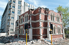 Christchurch-Earthquake damaged Childrens library demolished