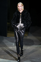 Anja Rubik walks down runway for F2012 Alexander Wang's collection in Mercedes Benz fashion week in New York on Feb 12, 2012 NYC