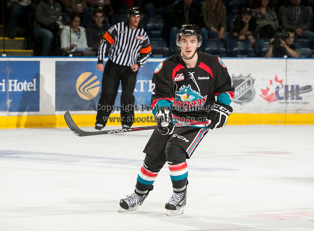 KELOWNA, CANADA - OCTOBER 18:  Jesse Lees #2 of the Kelowna Rockets skates on the ice as the Prince George Cougars visit the Kelowna Rockets on October 18, 2012 at Prospera Place in Kelowna, British Columbia, Canada (Photo by Marissa Baecker/Shoot the Breeze) *** Local Caption ***