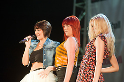 "Three piece Girl Band ""Girls Next Door"" perform at Meadowhalls Christmas lights switch on concert in Sheffield on Thursday evening 3 November 2011. Image © Paul David Drabble"