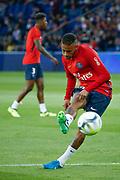 Neymar da Silva Santos Junior - Neymar Jr (PSG) at warm up during the French championship L1 football match between Paris Saint-Germain (PSG) and Toulouse Football Club, on August 20, 2017, at Parc des Princes, in Paris, France - Photo Stephane Allaman / ProSportsImages / DPPI